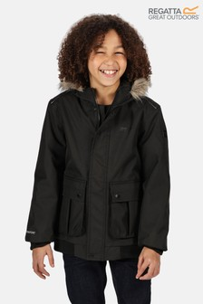 Regatta Black Balzo Waterproof Jacket
