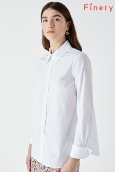 Finery Dillon White Poplin Shirt