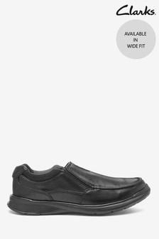 Czarne skórzane buty Clarks Cotrell Free