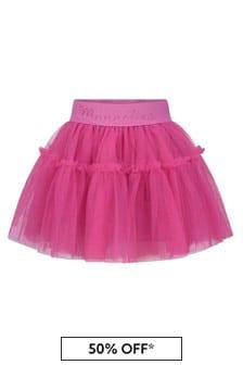Monnalisa Baby Girls Pink Tulle Skirt