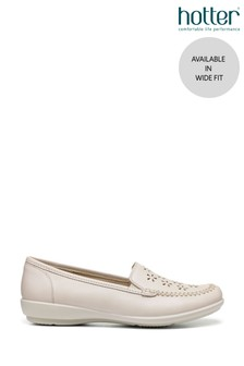 Hotter Jazz Wide Fit Slip-On Moccasin Shoes