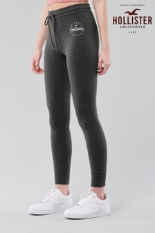 Hollister Grey Logo Fleece Leggings