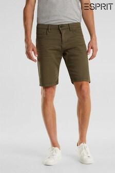 Esprit Green Woven 5 Pocket Shorts