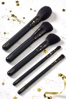 Glam 5 Piece Make Up Brush Set And Roll
