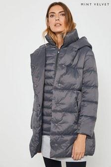 Mint Velvet Grey Padded Coat