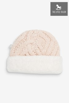 The Little Tailor Pink Plush Knitted Hat