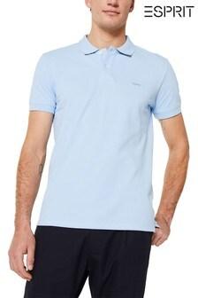 Esprit Blue Basic Pique Polo Top
