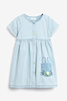 Bunny Pocket Stripe Dress (3mths-7yrs)