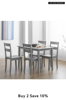 Kobe 4 Seater Dining Table Set by Julian Bowen