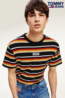 Tommy Jeans Black Yarn Dye Stripe T-Shirt