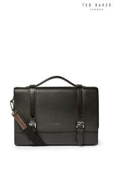 Ted Baker Black Hoock Leather Satchel