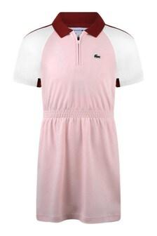 Girls Cotton Ping Short Sleeves Dress