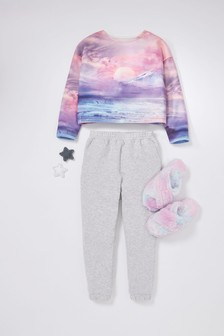 Sunset Scene Crew Neck Sweat With Joggers (3-16yrs)