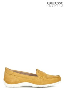 Geox Women's Vega Moc Yellow Shoes