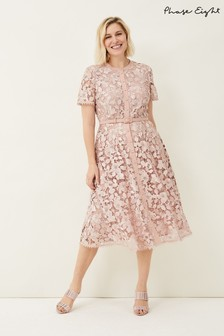 Phase Eight Pink Samana Lace Shirt Dress