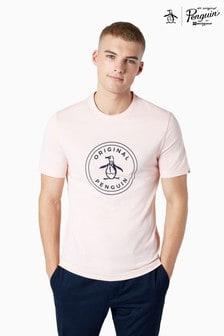 Original Penguin® Pink Stamp Logo T-Shirt