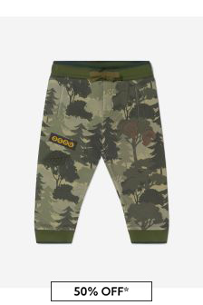Dolce & Gabbana Kids Baby Boys Khaki Cotton Trees Joggers