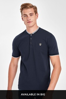 Baseball Neck Slim Fit Polo