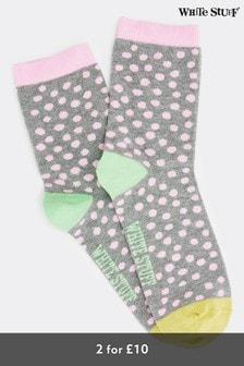 White Stuff Poppy Spot Socks