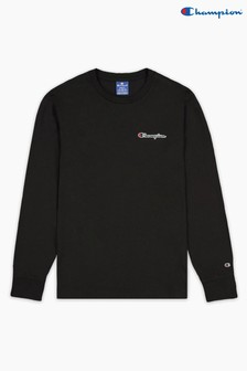 Champion Black Crew Neck Long Sleeve T-Shirt