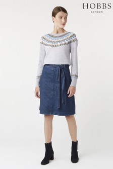 Hobbs Blue Tori Skirt