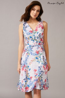 Phase Eight Purple Robbie Floral Fit & Flare Dress