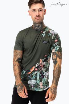 Hype. Mens Khaki Garden Print T-Shirt