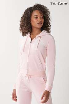 Juicy Couture Velour Anniversary Crest Hoodie