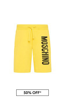 Boys Yellow Cotton Shorts