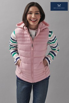 Crew Clothing Company Pink Lightweight Normal Baffle Gilet