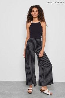 Mint Velvet Ink Stripe Wide Leg Trousers