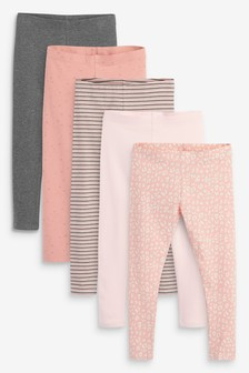 5 Pack Leggings (3-16yrs)