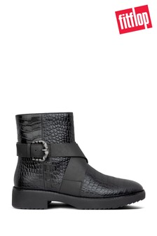 FitFlop™ Black Helmi Ankle Boots