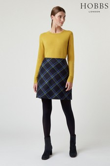 Hobbs Navy Elea Skirt