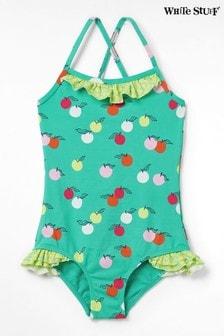 White Stuff Green Kids Fruity Spot Swimsuit