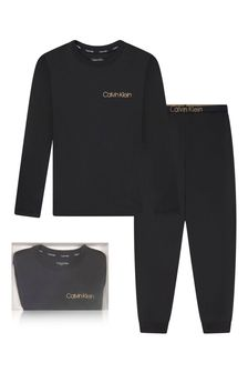 Boys Black Cotton Pyjamas