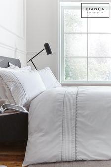 Bianca Ric Rac Egyptian Cotton Duvet Cover and Pillowcase Set