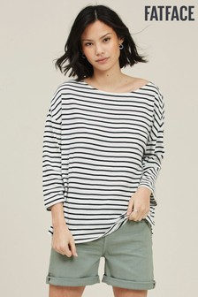 FatFace Natural Lucille Stripe Top