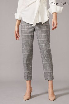 Phase Eight Blue Terri Check Trousers