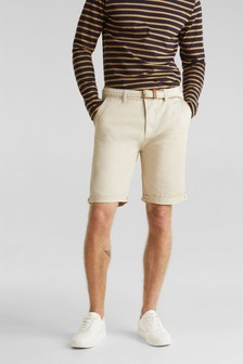 Esprit Cream Relaxed Slim Fit Chino Shorts