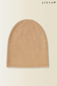 Jigsaw Camel Velvet Cashmere Hat