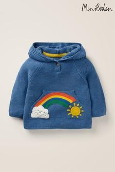 Boden Blue Rainbow Pocket Jumper