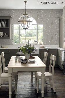 Laura Ashley Steel Elderwood Wallpaper