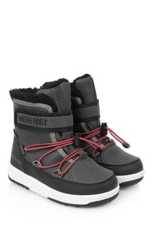 Boys Black Waterproof Snow Boots