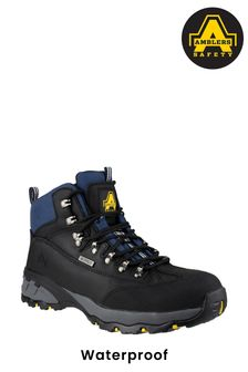 Amblers Safety Black FS161 Waterproof Lace-Up Hiker Safety Boots