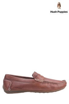 Hush Puppies Brown Roscoe Slip-On Shoes