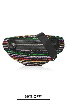 Girls Multicoloured Sequin Belt Bag