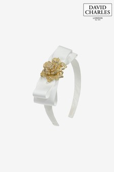 David Charles Ivory Bow Hairband