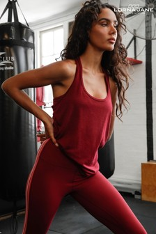 Lorna Jane Burgundy Slouchy Gym Tank Top