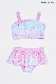 River Island Pink Unicorn Bikini